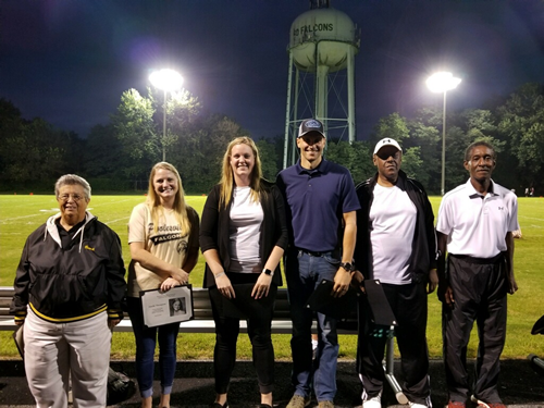 group photo of the 2018 hall of fame inductees