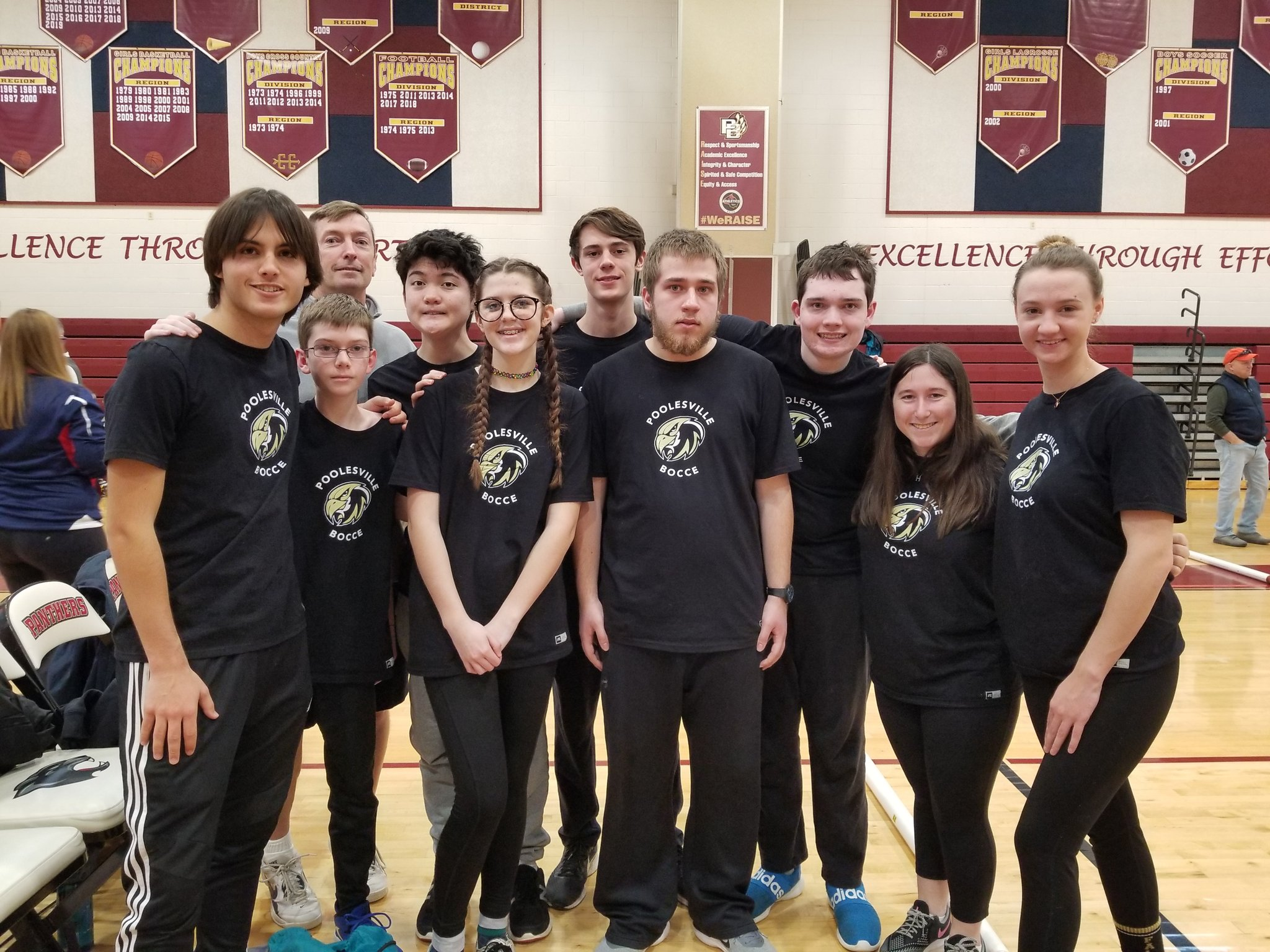 Bocce team photo from the 2020 MCPS Championship