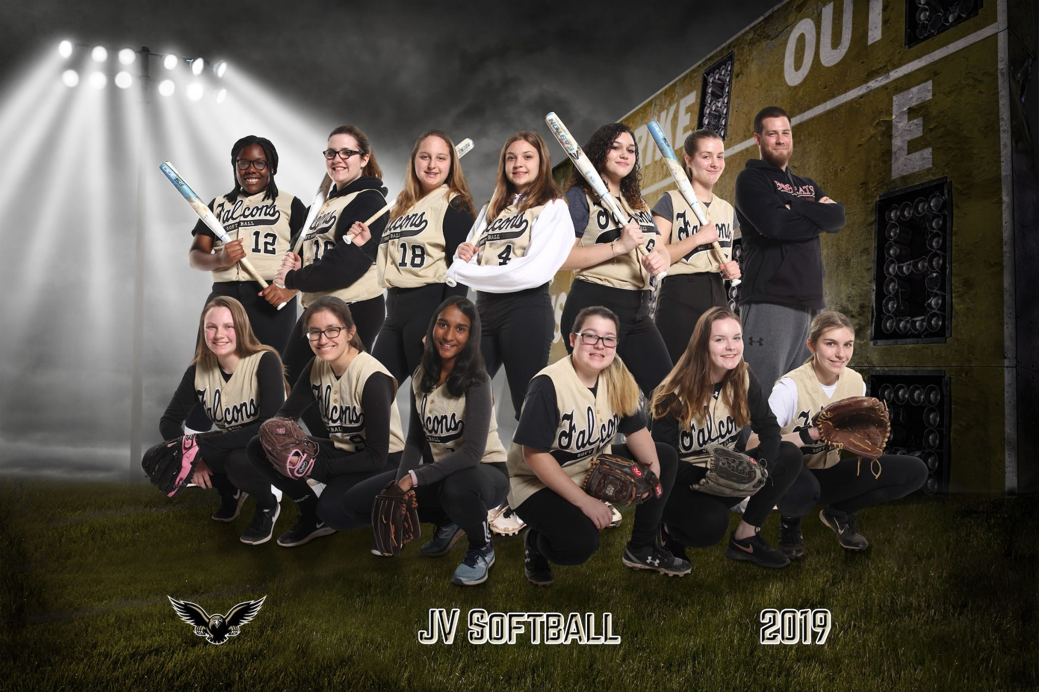 jv softball team picture 2019
