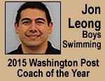 Jon Leong, Boys Swimming, 2015 Washington Post Coach of the Year