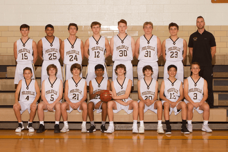 Boys Junior Varsity Basketball 2019-2020 team photo