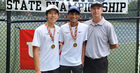 boys tennis doubles state champs