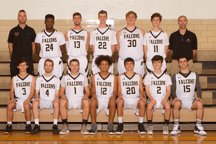 Boys Varsity Basketball 2019-2020 team photo