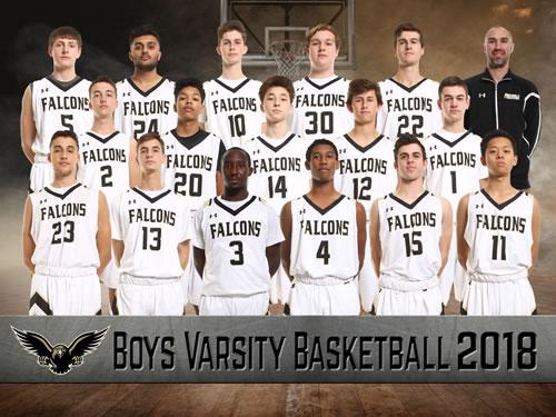 Boys Varsity Basketball team picture