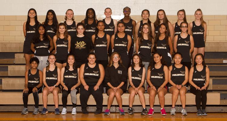 girls indoor track 2019-2020 team photo