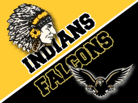 Indians and Falcons logos