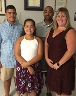 photo of katie hackey and family