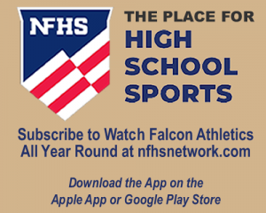 NFHS. The place for high school sports. Subscribe to Watch falcons athletics all year round at n f h s network dot com