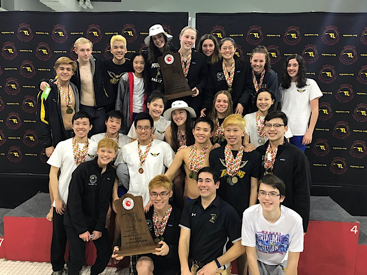 2020 swimming state championship team picture