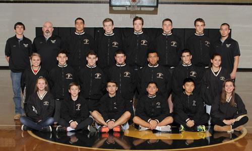 varsity wrestling team photo