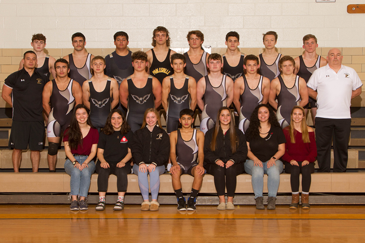 varsity wrestling 2019-2020 team photo